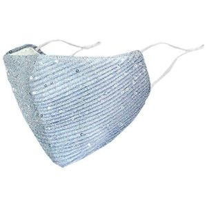 Sequin Face Mask with Adjustable Straps